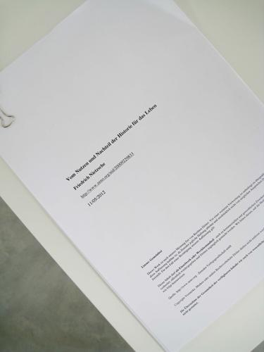 Friedrich Nietzsche - 'Vom Nutzen und Nachtheil der Historie für das Leben' Copyright-free, downloadable PDF