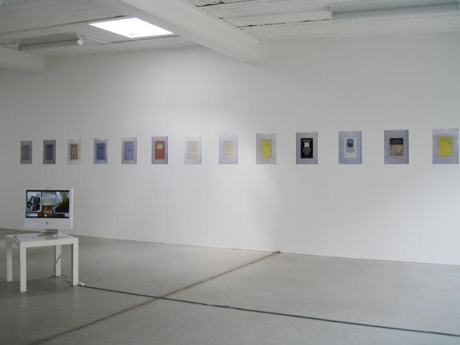 Installation view Das Esszimmer