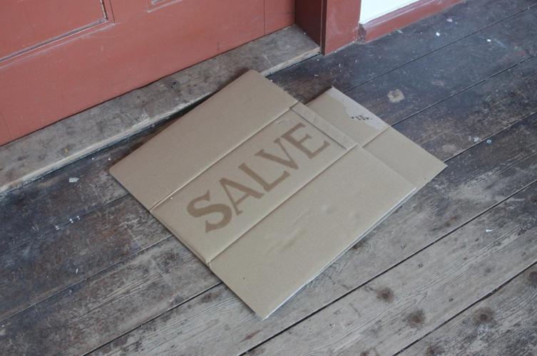 Vaseline on Cardboard